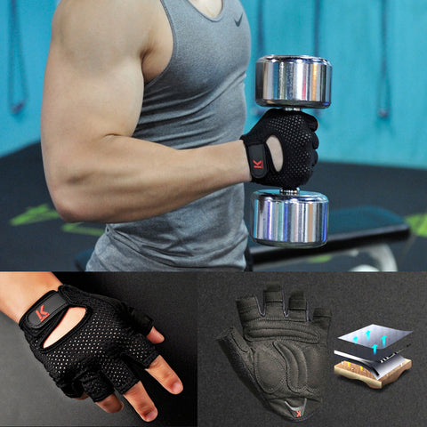 Gym Training Weight lifting gloves for men Sport Gloves cycling bike Half Finger