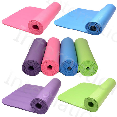 High Quality Non Slip Yoga Mat Roll Up Pillates Fitness Equiptment Soft Comfortable
