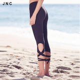 High Waist Turnout Yoga Pants For Women Spandex Yoga Leggings Fitness Running Trousers sportswear