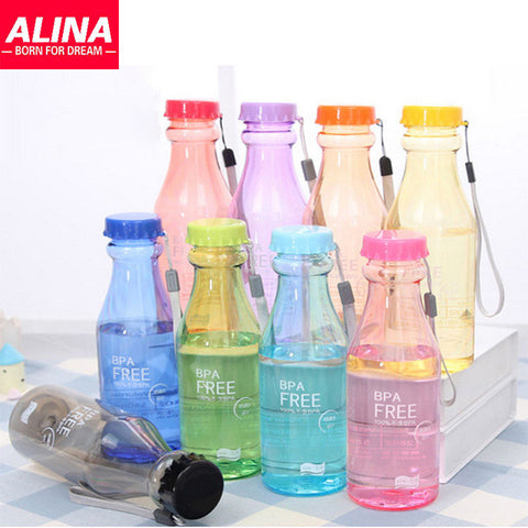 Kettle Bell Shaker Transparent Plastic Leakproof Seal Impenetrable Bottle Beverage Cup