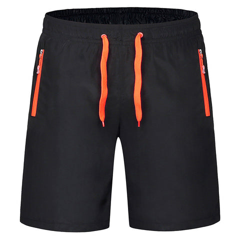 2016 New Summer Shorts Men Waterproof Quick Dry Mens Beach Sports Shorts Elastic Waist Running Shorts Men Zipper Pocket