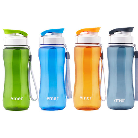 Plastic water bottle leak-proof (560ml) brief portable for sports travel space cup