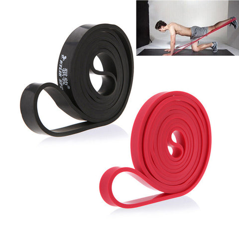 Natural Latex Pull Up Physio Resistance Bands Bodybuilding Yoga Exercise Fitness Equipment 208cm