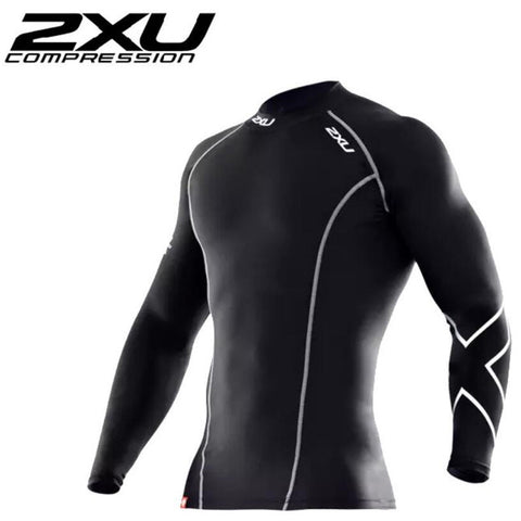 Men's Tights Running Bicycle Fitness tees Long Sleeve Outdoor Quick-drying T-shirt