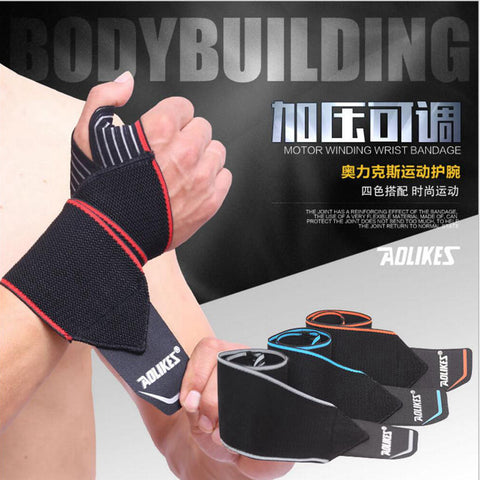 Opening Design Weight Lifting Wrist Support Straps Bandage
