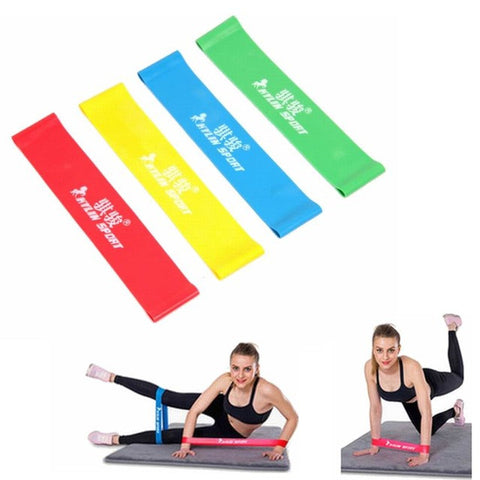 4 Levels Pilates Rubber Resistance Bands Fitness LOOP rope Stretch Band for bodybuilding