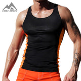 Athletic Slim Fitted GYM Men's Tank Tops 2016 New Sexy Xman Muscle Elasticity Men's Fitness Sport Vest AQ20 Top Tees on Sale