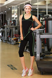 Women Sport Yoga Sets Shirts Vest Pants for Workout Running Fitness Training Clothing