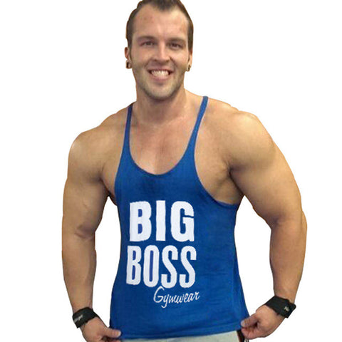 Bigboss Gold's Gym Tank Top Men Summer bodybuilding stringer tops Fitness Singlet Sleeveless Undershirt Clothing ZYZZ  GASP