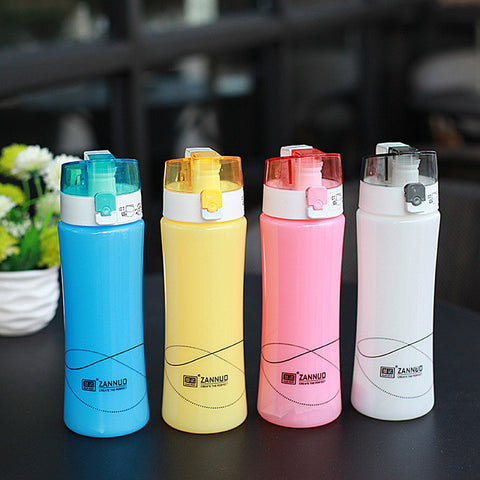 Colorful Plastic Bottle Eco Friendly with Tea Infuser Shaker Sport Yoga Cup Unbreakable
