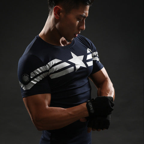 Captain America T Shirt 3D Printed T-shirts Men Marvel Avengers 3 iron man Civil War Tee Fitness Gym Clothing Male Crossfit Tops