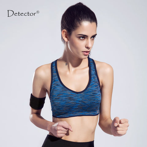 Detector Women Quick Drying  Sports Yoga Bra Tank Top Vest Sport Fitness Yoga Seamless Running
