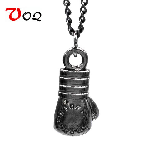 Alloy Link Chain Mini Boxing Glove Necklace