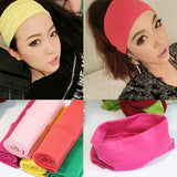 women headwear color hair sport cotton wide headband absorb sweat Yoga hair band for girls
