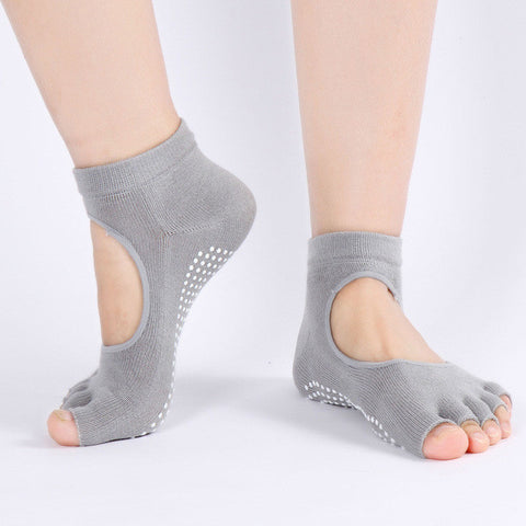 Fitness Backless Home Female Male Sports Non-slip Yoga Socks Women
