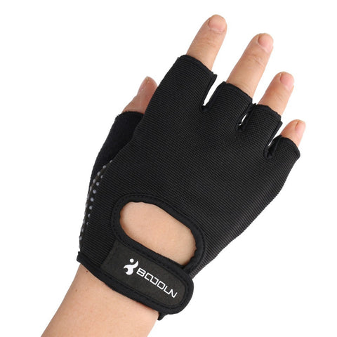 Black Half Finger Men  Weightlifting Gym Sports Fitness Gloves