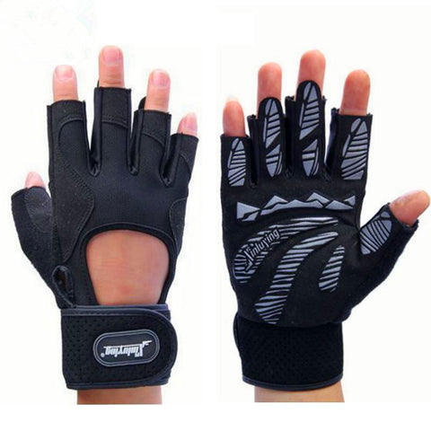Fitness Weightlifting Gym Bodybuilding Training Crossfit Gloves With Wrist Protector