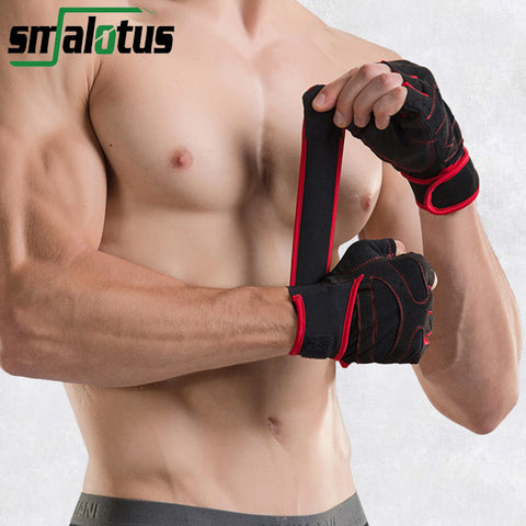 Men Women Fitness Gym Body Building Sports WeightLifting Gloves With Wrist Support Belt