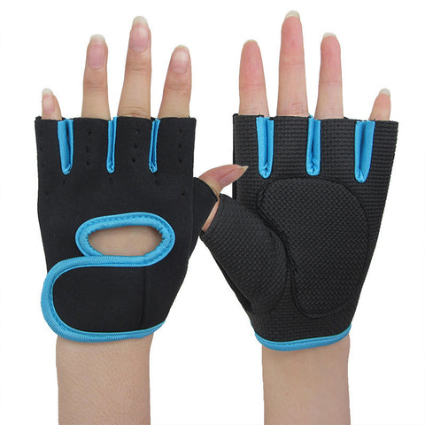Half Finger Sports Gym Gloves Training Exercise Anti Slip Gloves Women Men
