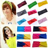 Fashion Stretch Cotton Sports Yoga Wide Girls Elastic Hairbands Headbands for Women