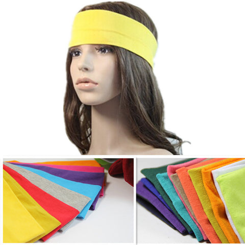 Candy color Sports Yoga Cotton Cloth Fabric Hair bands headband Women Hair Accessory