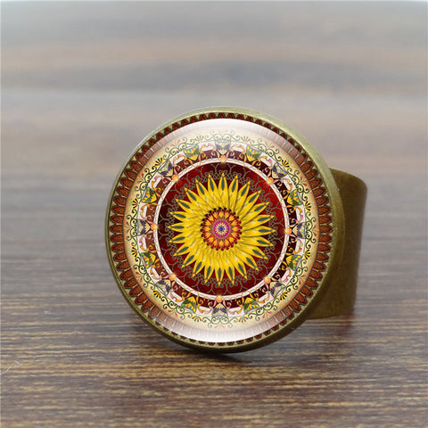 Vintage Mandala Ring For Women