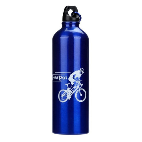 Camping Bicycle Sports Aluminum Alloy Water Bottle 750ml Outdoor