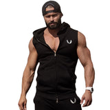 Men Cotton Hoodie Sweatshirts fitness clothes Gym bodybuilding tank top men Sleeveless sport Tees Shirt Casual golds gym vest