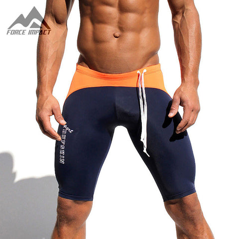 Men's Sport Shorts Elastic Waist Shorts Fitness Gym Workout Skinny Running Yoga Fight Short for Man Biker Shorts AQ12