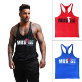 Muscle Alive Gym Tank Top Men Fitness Bodybuilding Sleeveless Shirt Brand GASP ZYZZ Stringer Clothing Racerback Undershirt Vest