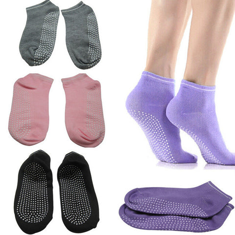 Fitness Ladies Girls Women Sport Pilates Yoga Non Slip Grip Socks 4 Colors