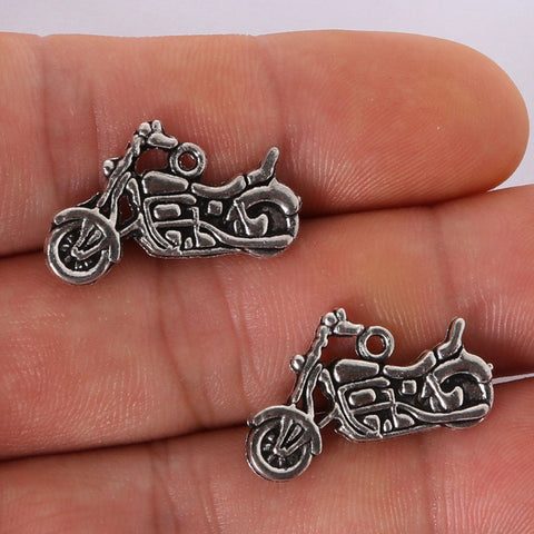 18*25MM antique silver Alloy Motorcycle charms Pendant Jewelry