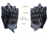Men's Slip-Resistant Gym Sports Weight Lifting Body Building Training Fitness Gloves