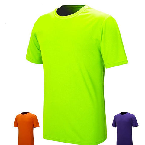Men T-Shirts Sports Tees Apparel Women Fitness Running Short Sleeve Quick Dry