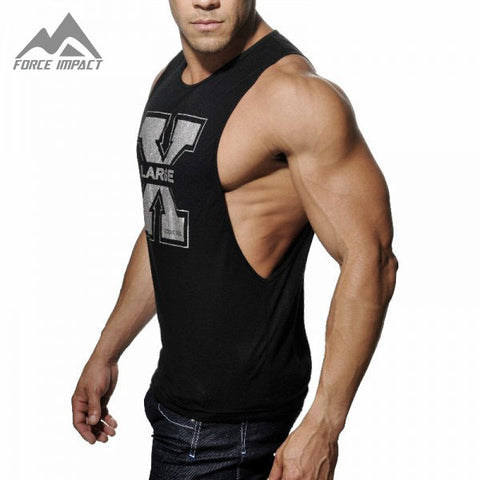 Men's Tank Tops Low Cut Armholes Vest Casual Men Workout Tees For Fitness
