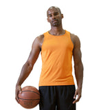New Tank Tops Men 100% Polyester Gym Tank Top Quick Dry Sleeveless Undershirt Fitness Tank Top Big Size S-XXL Basketball Running