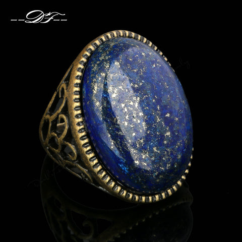 Lapis Stone Yoga Ring