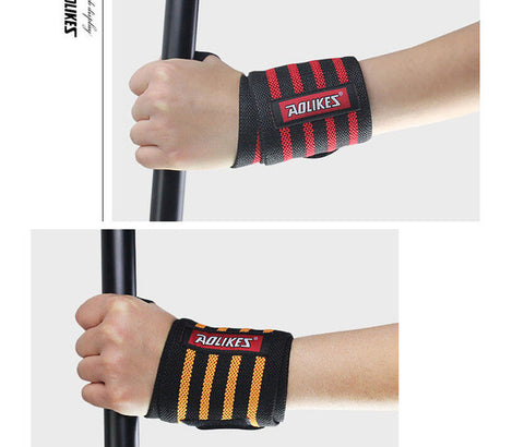 Recommend! Weight Lifting Wristband Sport Safety Wrist Support Gym Training Wrist Straps  Fitness Bandage Wraps 1 pair