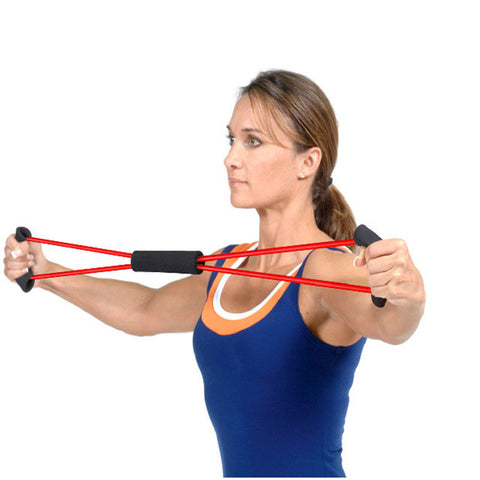 Resistance Training Bands Tube Workout Exercise for Yoga 8 Type Fashion Body Building Fitness Equipment Tool Hot Sale