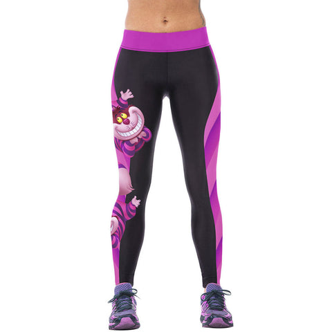 Womens YOGA Workout Gym Digital Printing Sports Pants Fitness Stretch Trouser