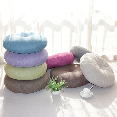 Thick Round Cotton Meditation Cushion