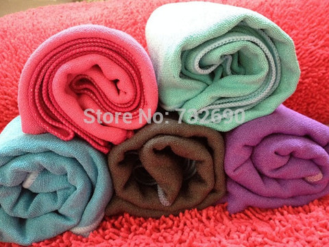 "Superior Quality  washable 185*63cm/25""x72"" Microfiber Yoga Towel Yoga Mat ,beach mat with customize logo"