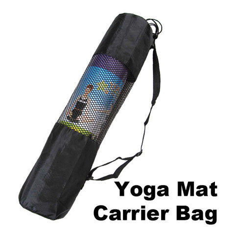 Top Quality Nylon Yoga Mat Bag Carrier Mesh Center Black
