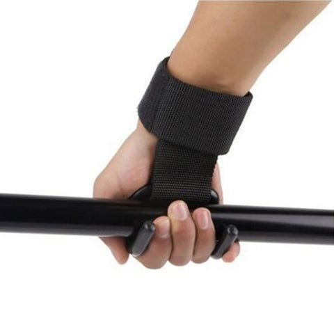 Strong Pro Weight Lifting Training Gym Hook Grip Wrist Straps
