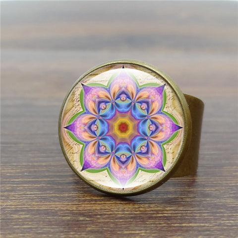 Vintage Mandala Yoga Ring For Women