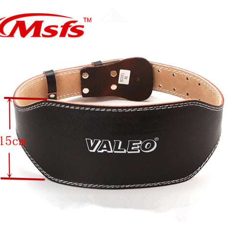 Leather Lumbar Protection Gym Fitness Training Weightlifting Belt