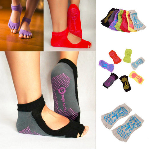 Sport Pilates Yoga Sports Toe Socks NON-SLIP GRIP Durable Half Toe Ankle Grip Five Finger