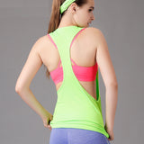 Women Gym Workout Clothing Sports T Shirt Yoga Fitness  Running Sportswear Tee Tank Tops