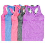 Women's Yoga Shirts Running Elastic Breathable Gym Fitness Comfortable Tank Top Shirts