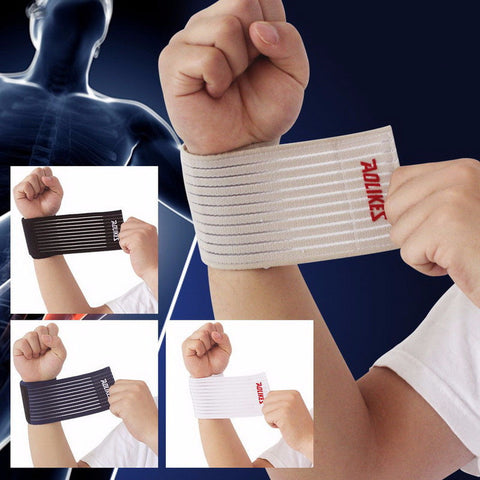 Fitness Cotton Strength Bandage Hand Wrist Straps Sport Wristbands Gym Wraps